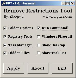 أداة Remove Restrictions لإظهار الملفات